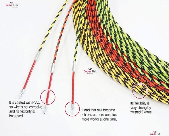 2-Strands Non-conductive fish tapes