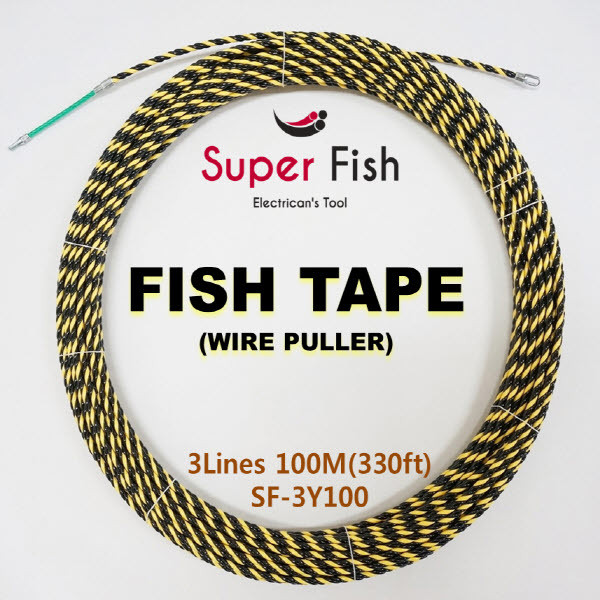 3-Strands electrical fish tapes yellow