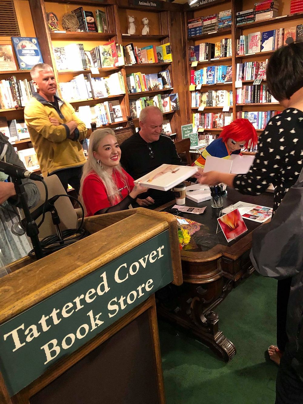 Judy Choi Francis George Phoenix Brown Daron Mueller Tattered Cover Book Signing Photography Writer Poet Denver Colorado