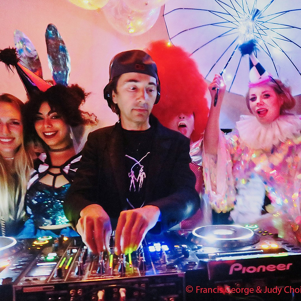 DJ Koolaid with Judy Choi of Tigrefou Editions Francis George french photographer Sublevel Doc Martin Los Angeles Catch One