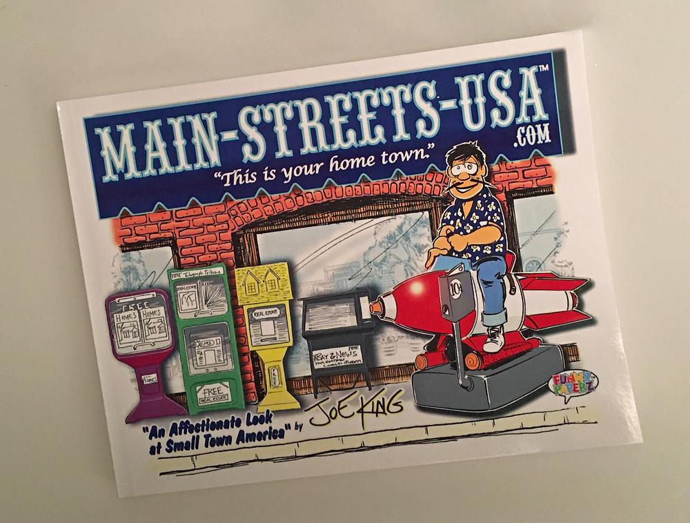 """Main-Streets-USA.COM"" A comic book by Joe King. #JudyChoi #FrancisGeorge #JoeKing #ToonGuy #Comics #Books #Cartoons #Helmets #Muses #Stories #Photographer #Writer #TigrefouEdition"