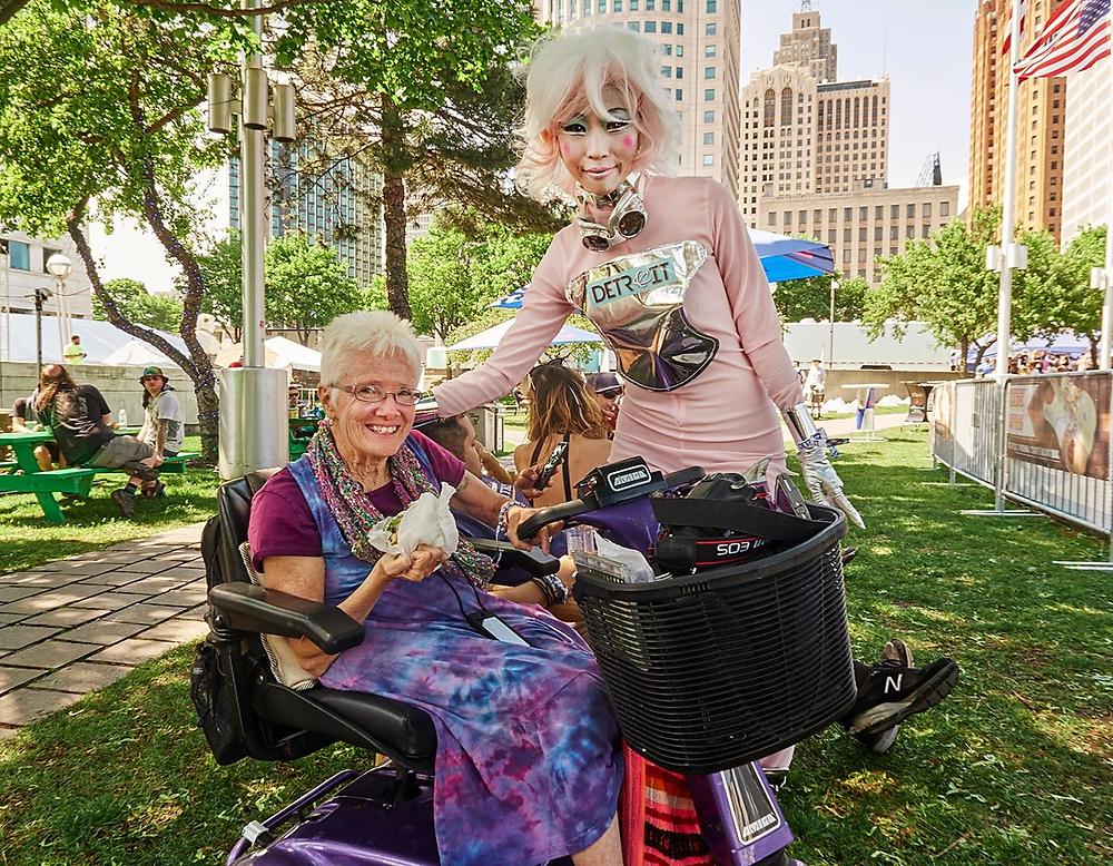 Judy Choi with Grandma Techno at Detroit Movement Paxahua taken by Francis George Photographer Las Vegas Techno
