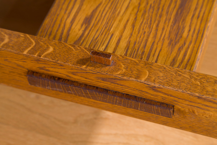 Oak Dining Table Detail