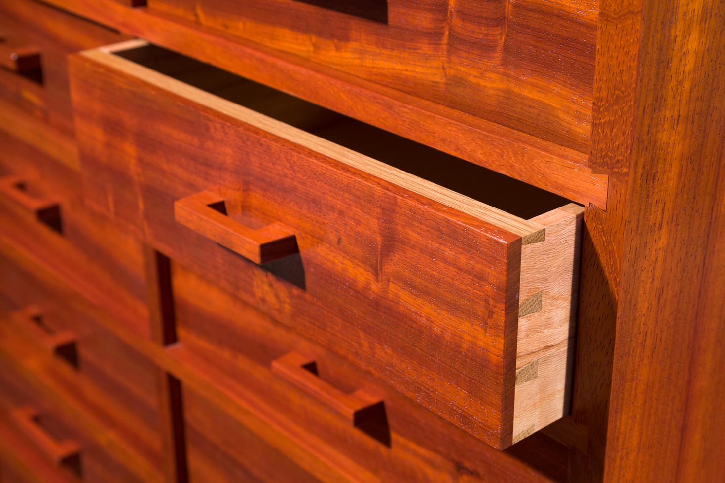 Padauk Dresser Detail