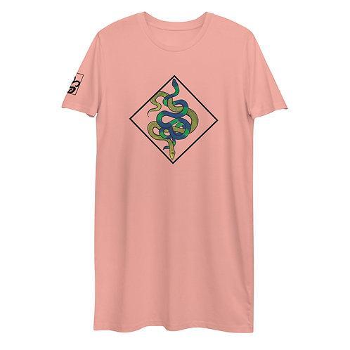 Snake Love Organic cotton t-shirt dress