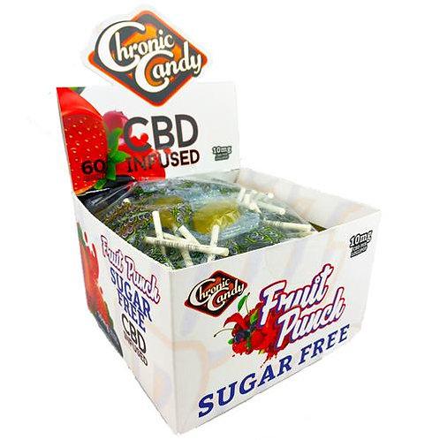 Chronic Candy 10mg- Sugar Free Fruit Punch Lollipop