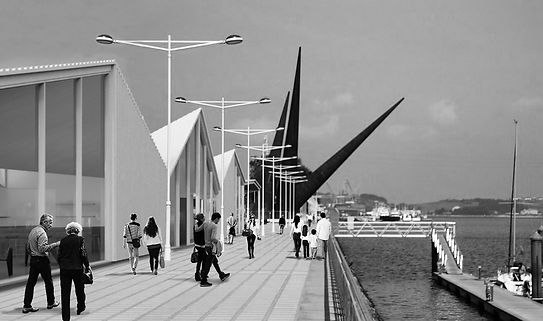 Terrazas, bares y restaurantes en la Avenida de Conde de Guadalhorce (Puerto de Avilés),aabb-studio, aabb studio, Architecture, Juan José Barrios Avalos, Daniel Valdés Vigil, Vivas arquitectos