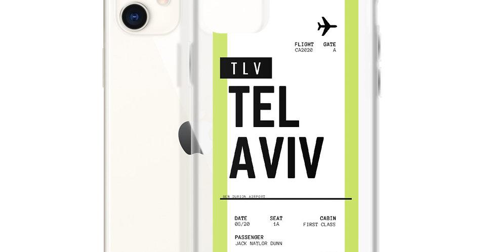 Tel Aviv Boarding Pass iPhone Case
