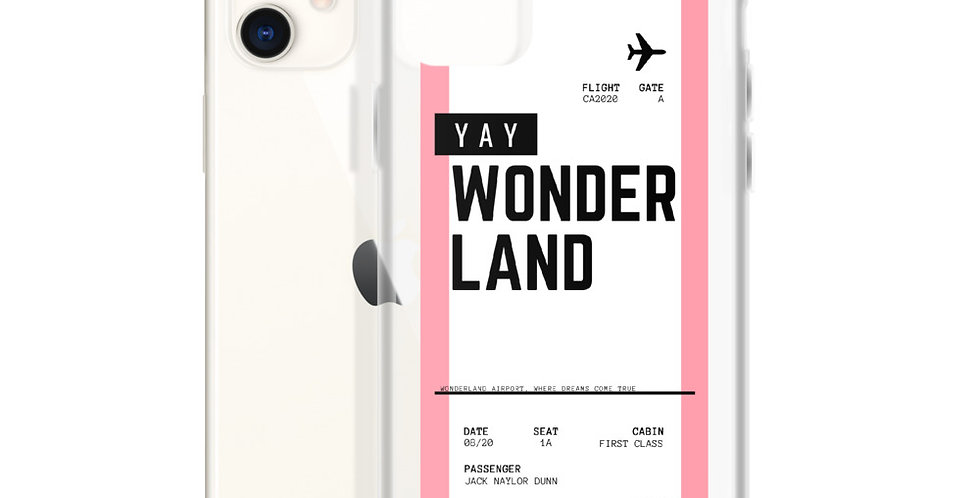 SPECIAL EDITION: Wonderland (YAY) Boarding Pass iPhone Case