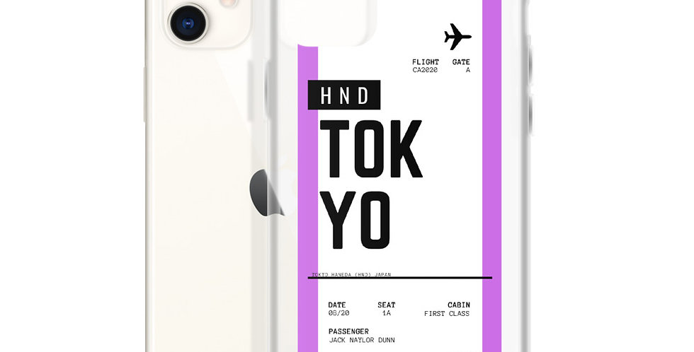 Tokyo Boarding Pass iPhone Case