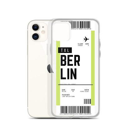 Berlin Tegel Boarding Pass iPhone Case