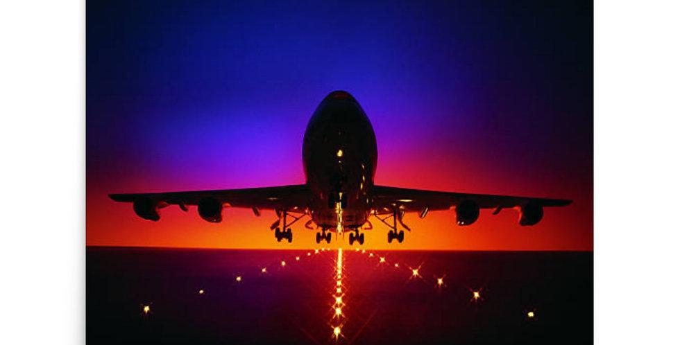 Departing 747 Poster