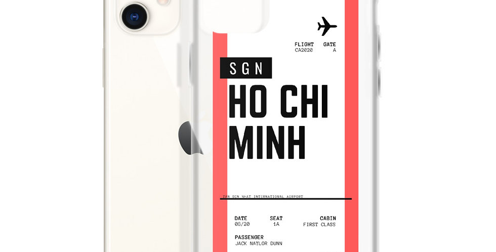 Ho Chi Minh Boarding Pass iPhone Case