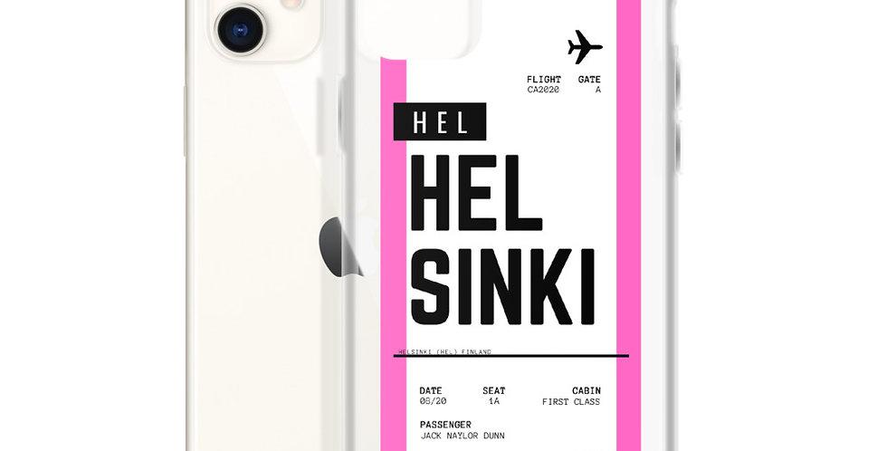 Helsinki Boarding Pass iPhone Case
