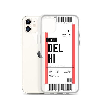 Delhi Boarding Pass iPhone Case