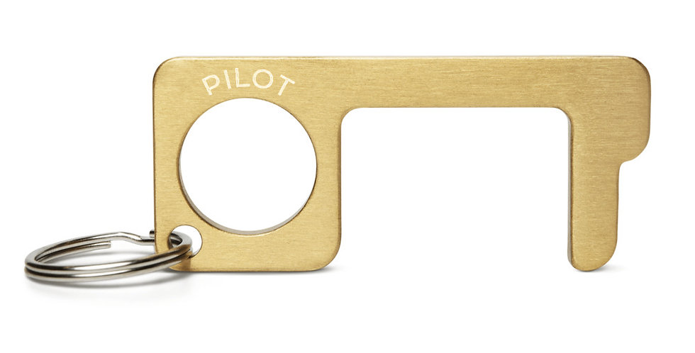 Pilot's Engraved Brass Touch Tool