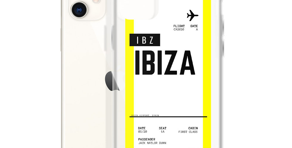 Ibiza Boarding Pass iPhone Case