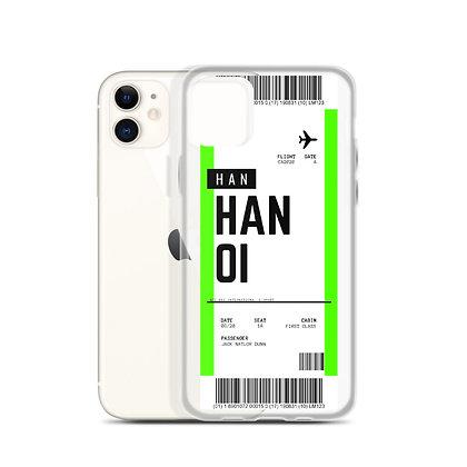 Hanoi Boarding Pass iPhone Case