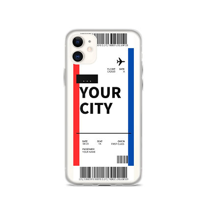 Create Your Own Boarding Pass iPhone Case