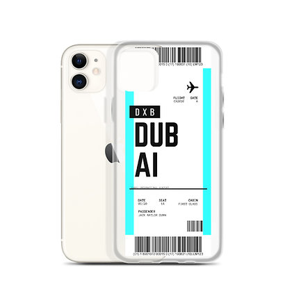Dubai Boarding Pass iPhone Case
