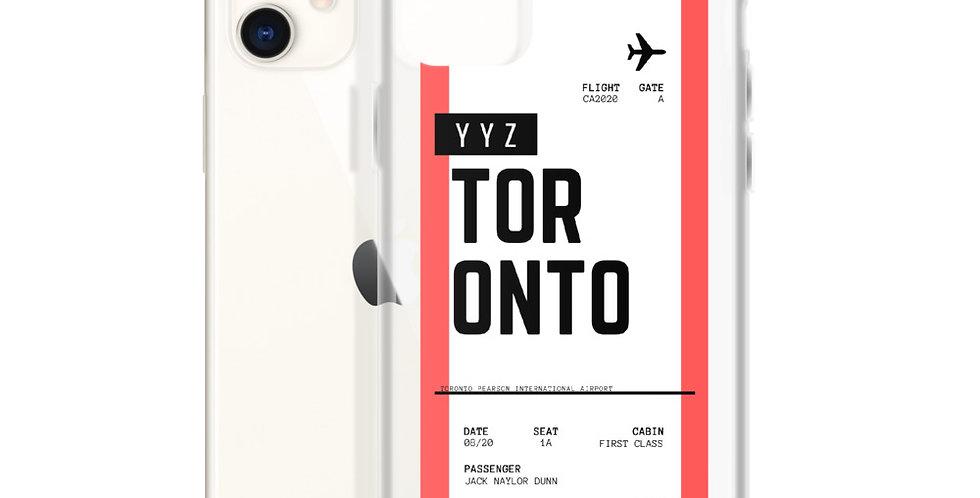 Toronto Boarding Pass iPhone Case