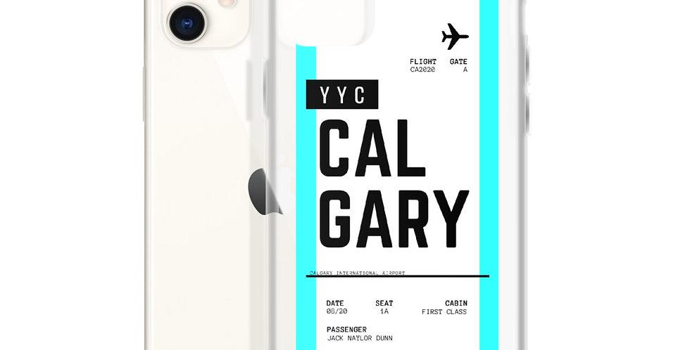 Calgary Boarding Pass iPhone Case