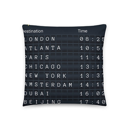 Departure Board Basic Pillow
