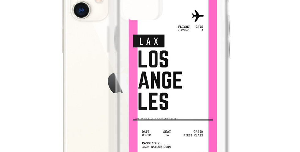 Los Angeles Boarding Pass iPhone Case