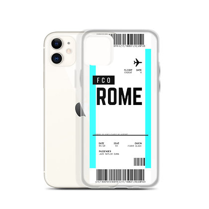 Rome Boarding Pass iPhone Case