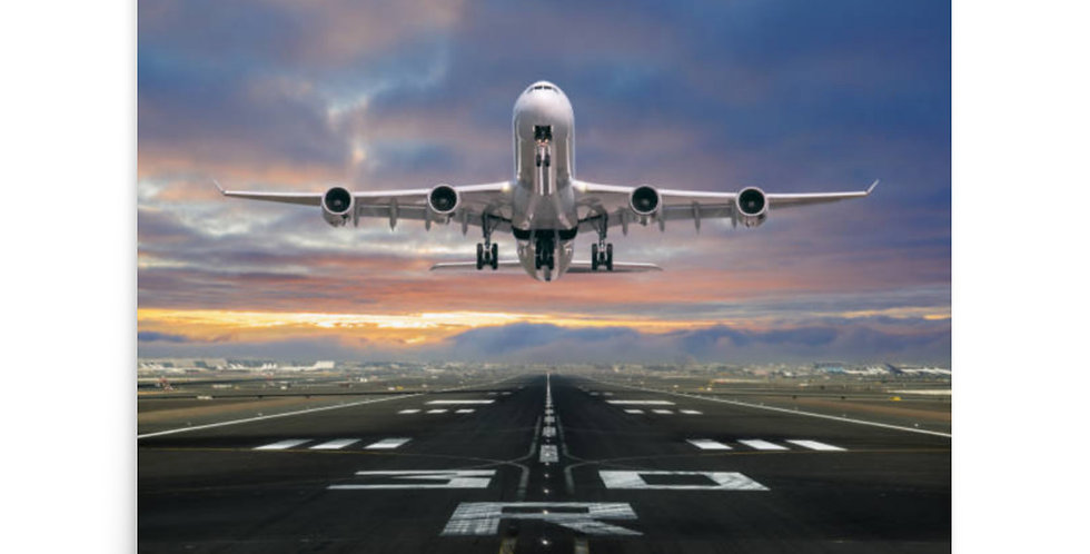 Aircraft Departing From RWY30 Poster