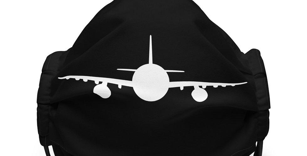 White Aeroplane Silhouette Face mask