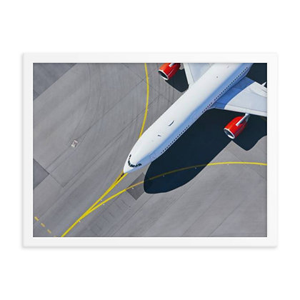 Taxiing Aircraft From Above Framed poster