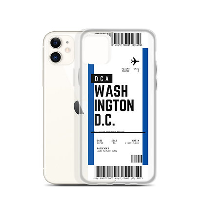 Washington D.C. Boarding Pass iPhone Case
