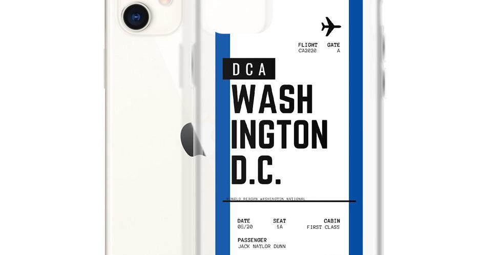 Washington D.C. Boarding Pass iPhone Case