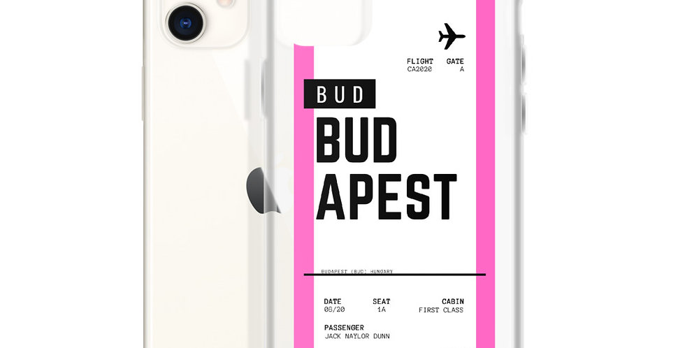 Budapest Boarding Pass iPhone Case