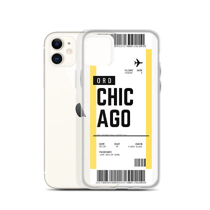 Chicago Boarding Pass iPhone Case