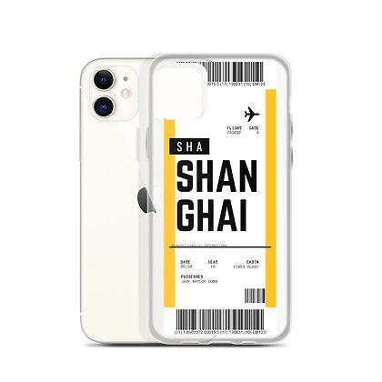 Shanghai Boarding Pass iPhone Case