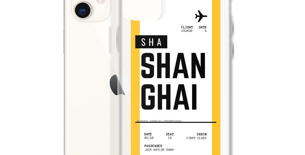 Shanghai Boarding Pass iPhone Case