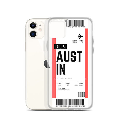 Austin Boarding Pass iPhone Case