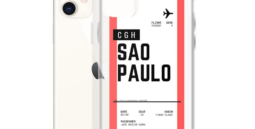 Sao Paulo Boarding Pass iPhone Case