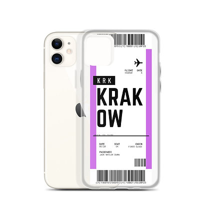 Krakow Boarding Pass iPhone Case