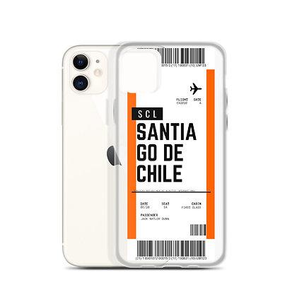 Santiago De Chile Boarding Pass iPhone Case