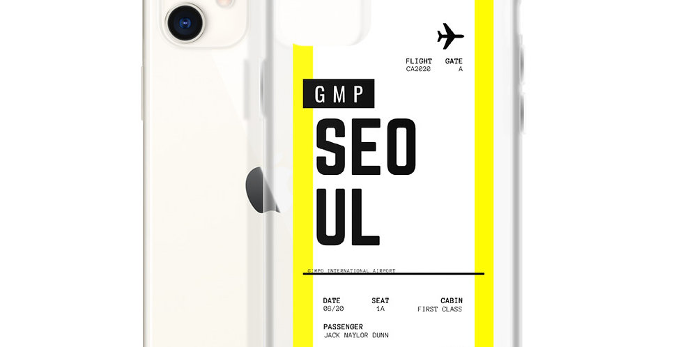 Seoul Boarding Pass iPhone Case