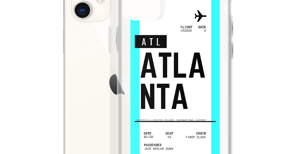 Atlanta Boarding Pass iPhone Case