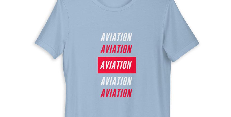 Red Aviation Short-Sleeve Unisex T-Shirt