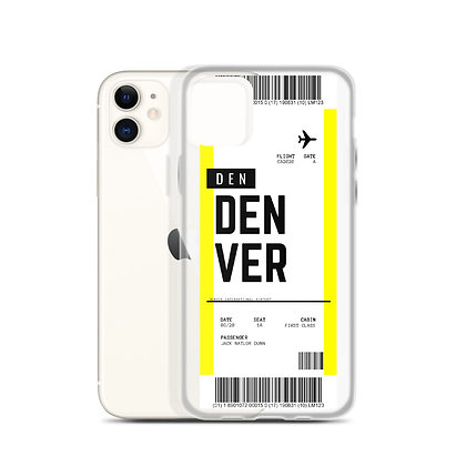 Denver Boarding Pass iPhone Case