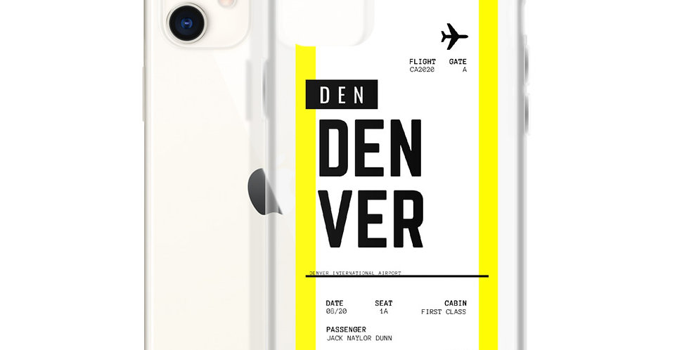 Denver Boarding Pass iPhone Case