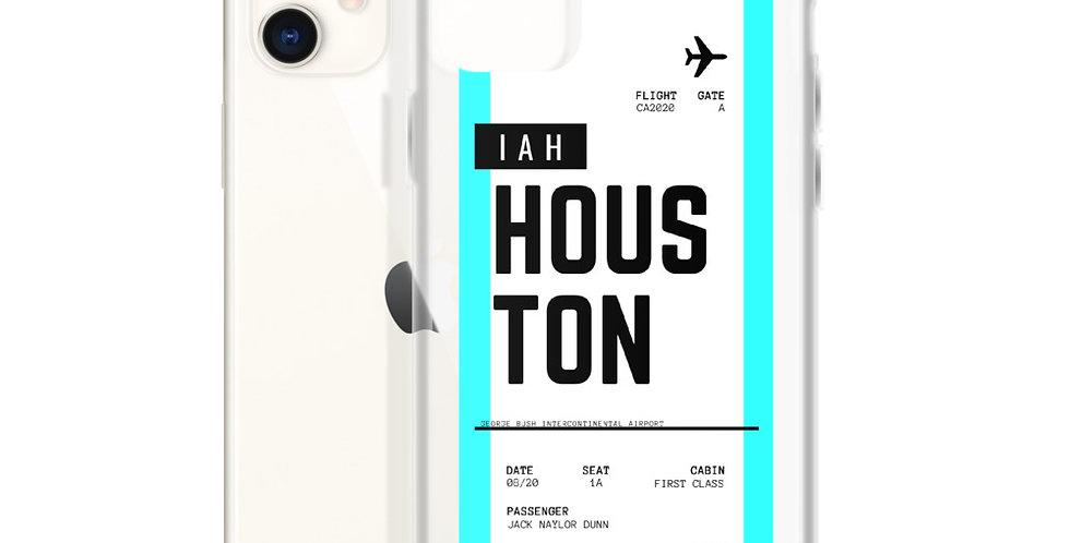 Houston Boarding Pass iPhone Case