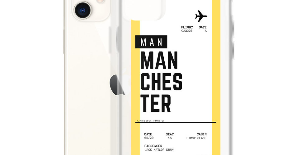 Manchester Boarding Pass iPhone Case