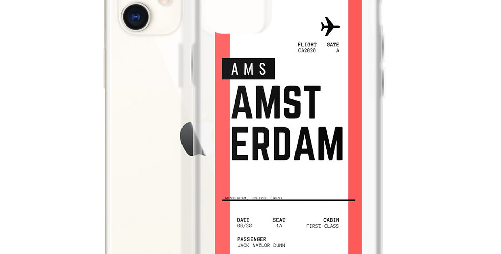 Amsterdam Boarding Pass iPhone Case
